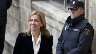 Princess Cristina denied all wrongdoing when questioned by an investigating magistrate in February 2014