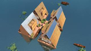 Computer design for a water community, Lagos, Nigeria - NLE Architects
