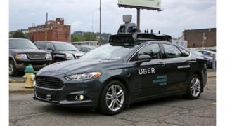 Uber programmed car