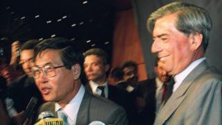 Alberto Fujimori y Mario Vargas Llosa