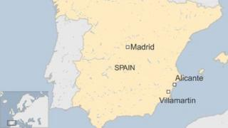 Map showing location of Villamartin in Spain