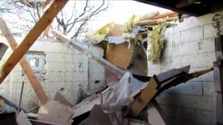 Damage from Ukrainian shelling