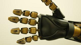 sensors on a robotic hand