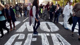 Anti-Ceta protest, Brussels, 20 Sep 16