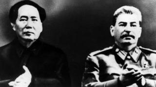 Mao and Stalin merged together in a photograph