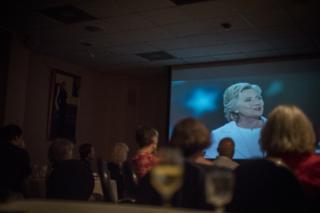 Democrats watching Clinton speech