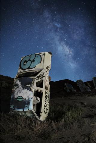 Car art in the desert