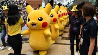 Pokemon characters in Singapore