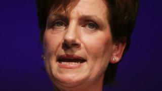 Diane James speaking at UKIP conference