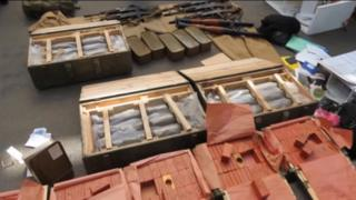 Arms haul shown by Ukraine's SBU