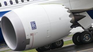Rolls-Royce engine on Boeing 787