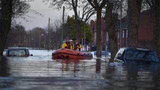 Rescue boat in Carlisle