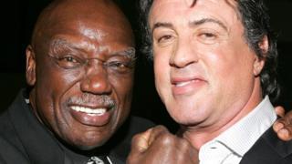 Tony Burton with Sylvester Stallone