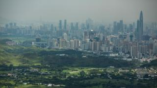 A view of the Shenzhen skyline