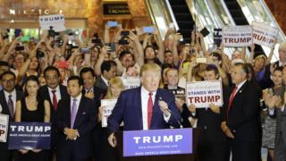 Trump in New York in September 2015