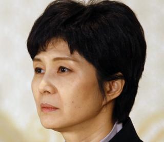Ảnh chụp cựu điệp viên Bắc Hàn Kim Hyon-hui tại một cuộc họp báo ở Busan, Nam Hàn tháng 3/2009