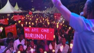 Burundi vigil
