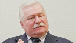 Lech Walesa in Warsaw, Poland (19 Feb 2015)