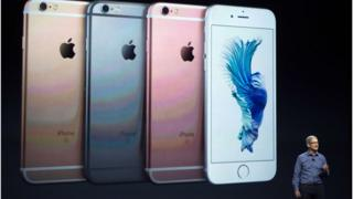 Apple iPhone 6s shown at the 9 September Apple event