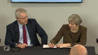 Theresa May signs the Swansea Bay City Region deal