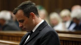 Oscar Pistorius, during his murder trial at the North Gauteng High Court in Pretoria (06 July 2016)