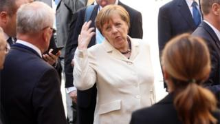 German Chancellor Angela Merkel in Rome, 25 March 2017