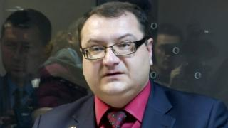 Yuriy Hrabovsky speaks during a trial hearing in Kiev on 3 November 2015.