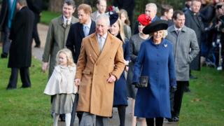 Members of the Royal Family at church on Christmas Day