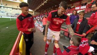 Young Bristol City fan Oskar Pycroft shortlisted for Football League award - BBC News  89163062 89163061