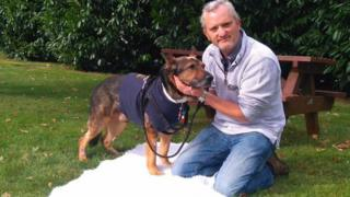 Police dog Finn and handler PC Dave Wardell