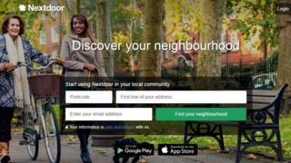Nextdoor home page