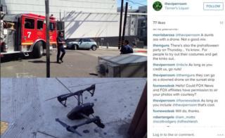 Drone crash
