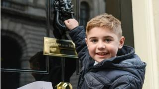 Archie Hill, 10, met David Cameron at 10 Downing St as part of the campaign to recommend the drug ataluren