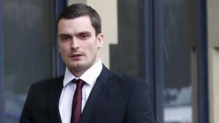 Footballer Adam Johnson arrives at Bradford Crown Court on Friday 12 February