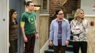 The cast of the Big Bang Theory