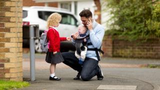 parent on school run