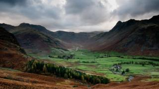 Sticklebarn and the Langdales, Cumbria