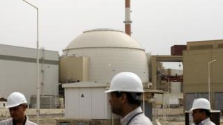 The Bushehr nuclear power plant at the Iranian port town of Bushehr