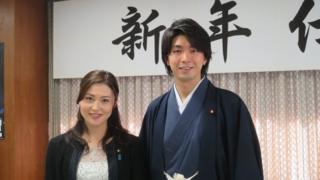 LDP lawmakers Megumi Kaneko and Kensuke Miyazaki