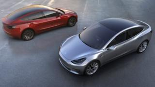 Tesla Model 3 cars