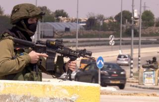 Soldier at Gush Etzion Junction