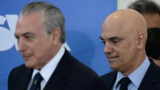 Alexandre de Moraes and President Michel Temer in Brasilia, 3 February 2017