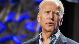 Former Vice President Joe Biden outlines his plan for the Biden cancer initiative during a panel at SXSW at the Austin Convention Center in Austin, Texas, on Sunday, March 12, 2017