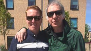Craig Gill (left) with Clint Boon