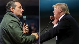 Cruz and Trump in Iowa