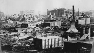 Ruins of Chicago, circa 1872