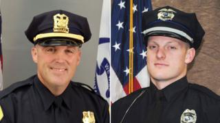 "Sgt. Anthony ""Tony"" Beminio, Des Moines Police Dept, 39, and Officer Justin Martin, Urbandale Police Dept, 24."