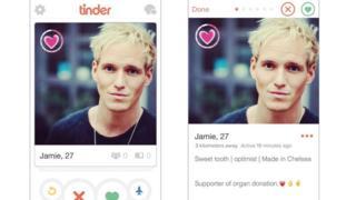 Jamie Laing's Tinder profile