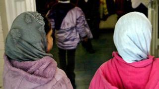 Muslim children at school