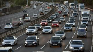 Vehicles on the M1